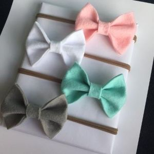 Other - 4pcs baby bows baby headband nylon headband